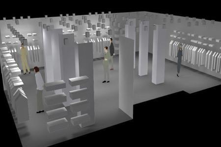 Iluminación comercial tienda ropa
